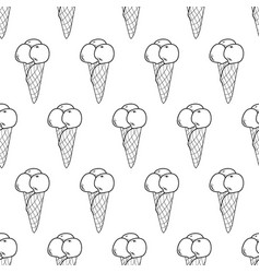 Ice cream easy pattern linear-12 vector
