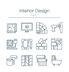 Interor desig icons isolated vector image