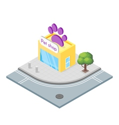 Isometric 3d of pet shop vector image