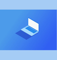 Isometric laptop vector
