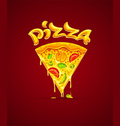 italian pizza with cheese vector image