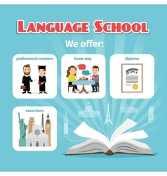 Language school benefits vector