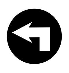 left arrow isolated icon vector image
