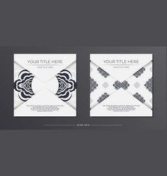 Light color postcard template with abstract vector