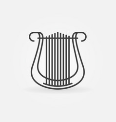 Lyre concept icon in thin line style vector