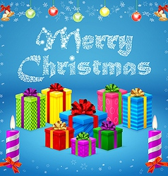 Merry Christmas gifts vector image
