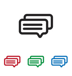 messages icon vector image