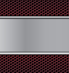 metal texture on hex red vector image