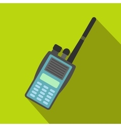 Military radio flat icon vector