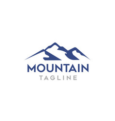 modern mountain logo template for business vector image