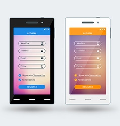 Modern smartphone with musical player vector