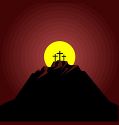 Night after crucifixion jesus vector