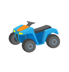 offroad auto blue quad bike transport vector image
