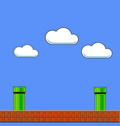 old game background classic arcade design with vector image
