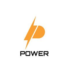 p power logo design symbol vector image
