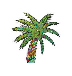 Palm tribal ornament logo vector