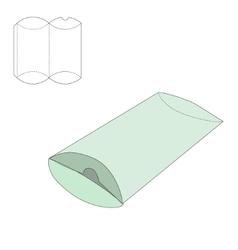 Pillow folding box vector image