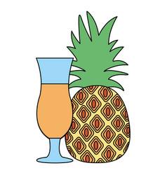 pineapple juice tropical fruit vector image