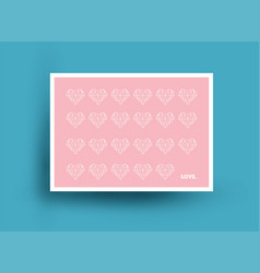 postcard design with hearts vector image