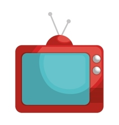 Retro Television isolated flat icon vector
