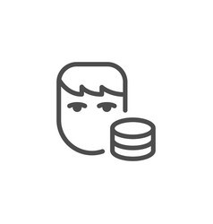 salary line icon vector image