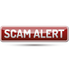 Scam alert button vector