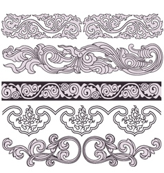 scroll floral pattern vector image