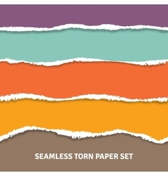 Seamless Torn Paper Concept vector