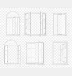 set of realistic windows isolated on the vector image