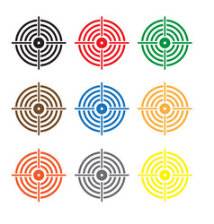 Set target icon on white background target sign vector