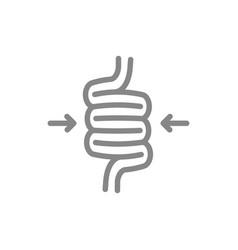 sigmoid colon volvulus line icon diseases vector image