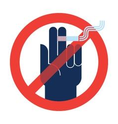 signs no smoking vector image
