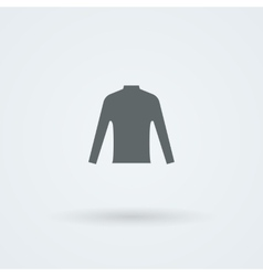 Single laconic icon with the image of T-shirts vector image