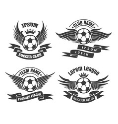 Soccer club emblem set vector