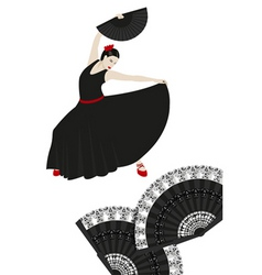 spanish montage vector image