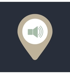 Speaker pin map icon Map pointer markers vector