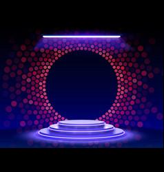 Stage podium with lighting podium scene vector