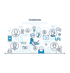 teamwork communication dialogues and discussions vector image