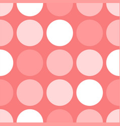 tile pattern with polka dots on pink background vector image