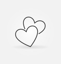 two hearts icon love concept sign vector image