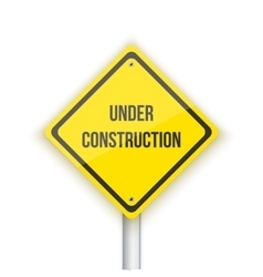 Under Construction Road Sign Background vector