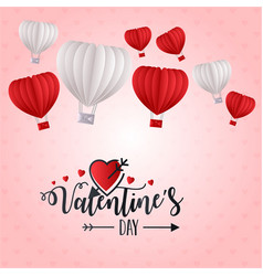 valentines day heart balloon 2019 background vector image