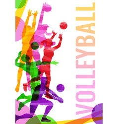 volleyball competition banner template with vector image