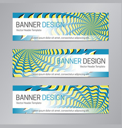 web header design blue yellow banner template vector image