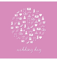 wedding icon in circle vector image