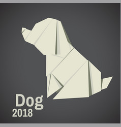 dogs are abstract origami vector image vector image