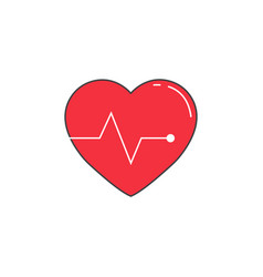 Heartbeat solid icon cardio graphics vector