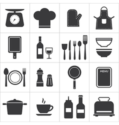 icon set kitchen and cooking vector image vector image