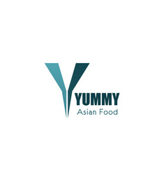 logo for asian food cafe vector image