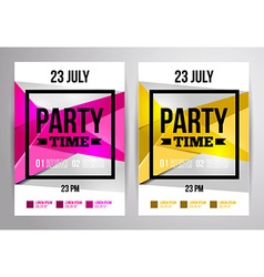 Party flyer design Disco template For night club vector image
